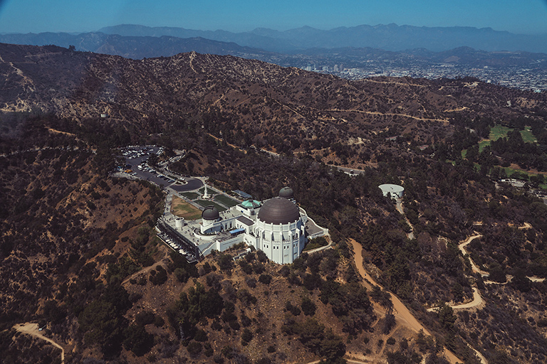 Griffith Observatory top view